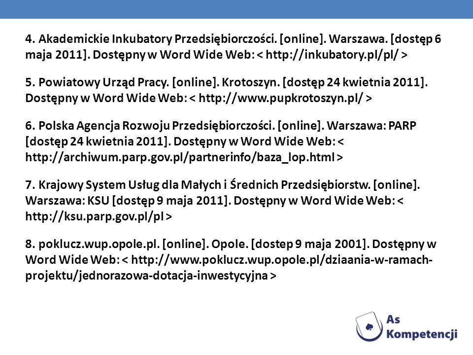 4. Akademickie Inkubatory Przedsiębiorczości. [online]. Warszawa